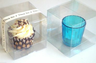 12 Large Cupcake Boxes 8.5cm Cube - Wedding Favours