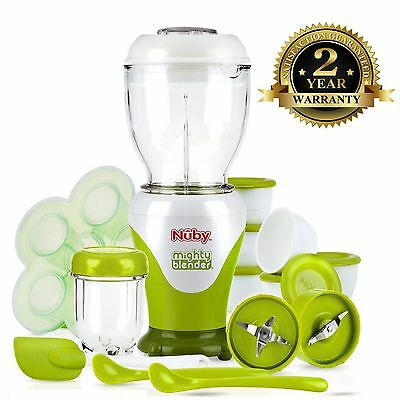 Nuby Baby Mighty Garden Fresh Steam Basket & Blender Food Processor 22 Pcs Set