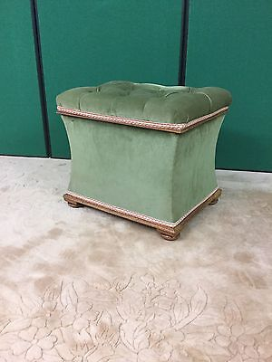 Antique Victorian Dressing Stool With Storage Under
