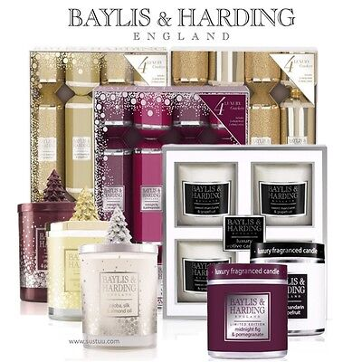 Baylis & Harding Festive Holiday Dinner Candles & Crackers Christmas Decor Gifts