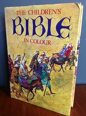 Vintage Hardback The Children's Bible In Colour 15th Edition 1977 Hamlyn
