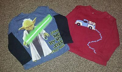 2 Long Sleeved Tops age 18-24 months. Star Wars & Truck.