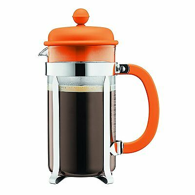 Bodum Cafetiere French Press Coffee Tea Maker 8 Cup, 1.0L, Orange