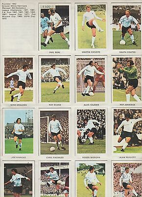 Tottenham Hotspur 1972-73 Complete Set Of Soccer Stars Stickers With 6 X Signed
