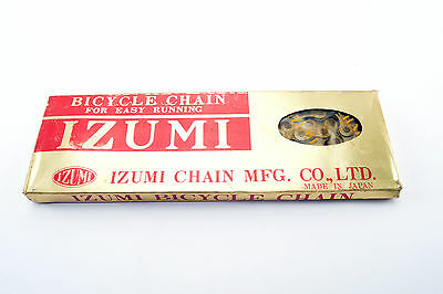 NEW Izumi Easy Running Gold 5-6-7 speed road chain 1/2 x 3/32, 116 links NOS/NIB
