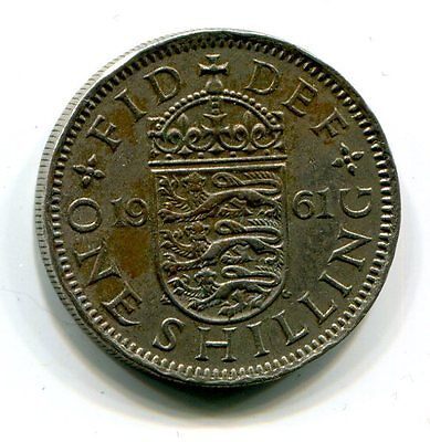 Great Britain One Shilling (English arms) 1961