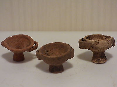 3 ANCIENT GREEK VOTIVE POTTERY CUPS 3rd-1st cent.BC