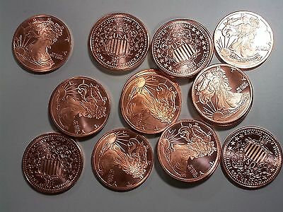 Set of (4) 2011 Liberty 1 oz Copper Rounds - Collector Rounds