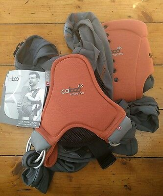 Caboo Merino baby carrier in brown and grey