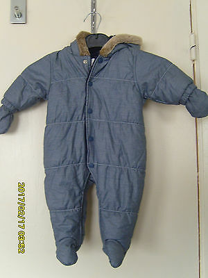 nwot Next baby up to 3 months weight 6 kg 14lbs boys snowsuit / all in one