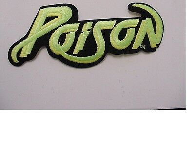 set of 2 large POISON  PATCH EMBROIDERED 90'S METAL-IRON ON PATCH-licensed 7.5""