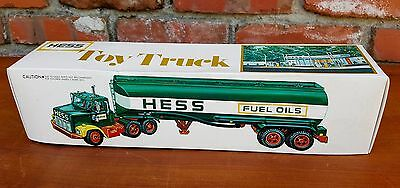 Vintage 1977 HESS TOY TRUCK Fuel Oil Tanker In Box Excellent Condition Hong Kong