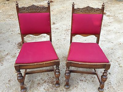 4 antique American made dining chairs