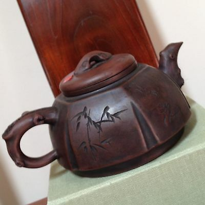 Vintage Chinese Yixing Zisha Clay Teapot Signed-Including a Filter-Good Conditio