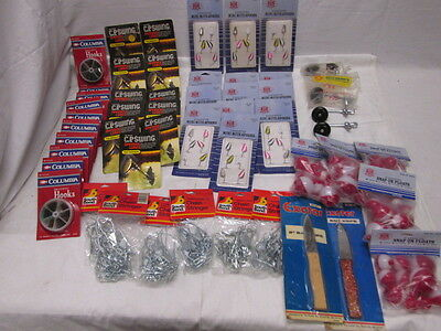 Dealer Lot Fishing Tackle Reel Handles Floats Hooks Spinners Chain Stringers NOS