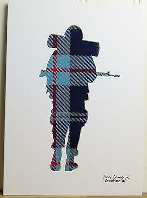 Solider In Help For Heroes Tartan Fabric Silhouette Picture 2805