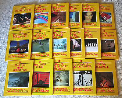 KODAK LIBRARY OF CREATIVE PHOTOGRAPHY Time-Life Books 17 Hardcover Volumes VG