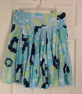 Women's New York & Co. Floral Pleated Flared Printed Skirt Size 10 Beautiful