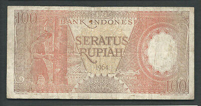 Indonesia 1964 100 Rupiah P 97b Circulated