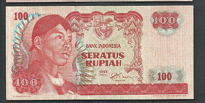 Indonesia 1968 100 Rupiah P 108 Circulated