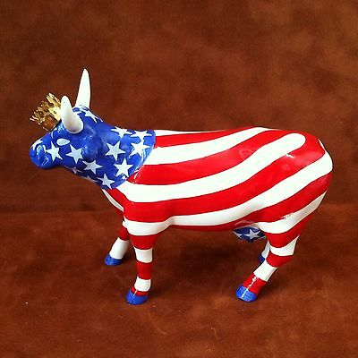 COW PARADE ~ #9189 ~ AMERICAN ROYAL ~ Westland Giftware 2001 Figurine ~ RETIRED