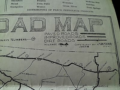 Parco Petroleum Products - Utah and Western States Folding Map - Circa 1928