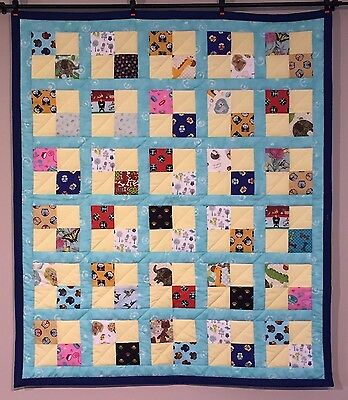 I Spy Peekaboo Unisex Baby Quilt Boys Girls Animals Lap Throw Blanket Cotton NEW