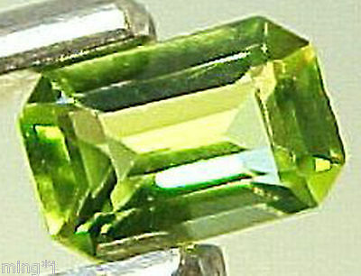 EXCELLENT 4×6 mm EMERALD CUT  NATURAL GREEN PERIDOT #R805