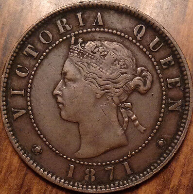 1871 Pei Large 1 Cent In Beautiful High Grade !