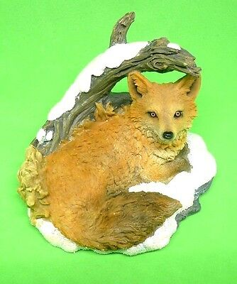 "Roman Inc Figurines New in Box "" Fox in Snow "" Josephs Studio #35469 Free Ship"