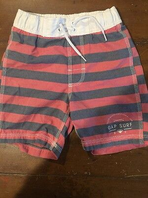 Gap Kids Boys Striped Swim Trunks Size 6/7