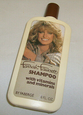 FARRAH FAWCETT 8 oz Shampoo with vitamins and minerals by Faberge EMPTY /a3