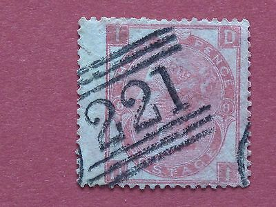 Lot #3667 1867 Victoria 3d Red Plate 8 Used SG103