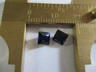 SAPPHIRE CORUNDUM SYNTHETICALLY GROWN [NOT SIMULANT]  PAIR TOTAL 1.70Ct  MF8625