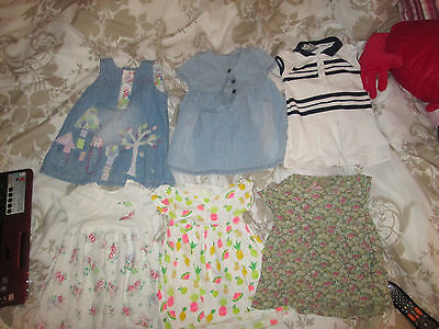 baby girls dresses summer bundle 9-12 months next etc