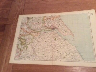 1920s Maps (4) from Bacons Geographical Atlas of  Yorkshire -complete set