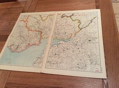1920s Maps (19) from Bacons Geographical Atlas of  Scotland - complete set