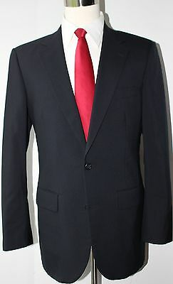 Brooks Brothers Madison Solid Navy Blue Wool Two Button Suit Size 38 S 32 28