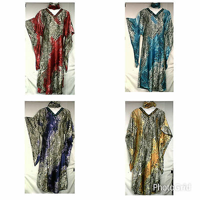African Clothing Women Traditoinal Kaftan Caftan Gown Long Dress One Size