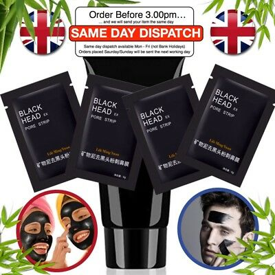 Black Mud Peel-off Mask for Man Blackhead Removers Cleansing Purifying UK 50 ml
