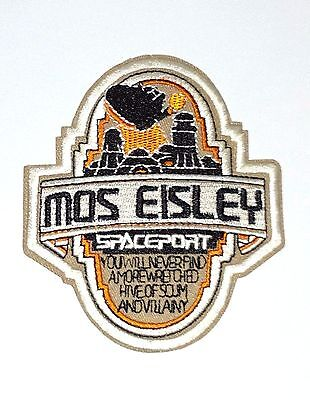 Star Wars Vintage Mos Eisley SPACEPORT Embroidered Iron on/ Sew on Logo Patch