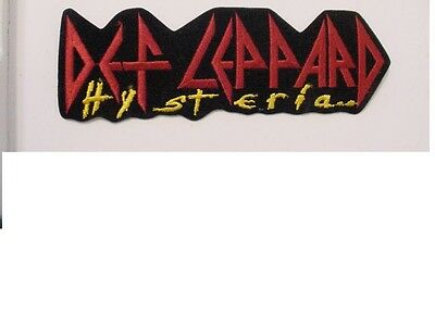 "set of 2 LARGE DEF LEPPARD VINTAGE IRON PATCH ""HYSTERIA"" OFFICIAL LICENSED-8.5"""