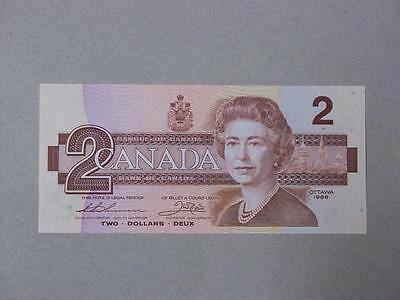 1986 $2 CANADIAN BILL UNCIRCULATED SERIAL #BUE1366210 #9192 glcw