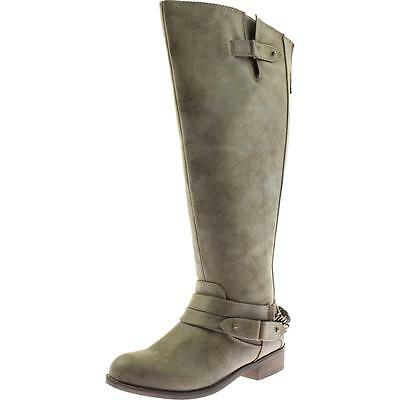 Madden Girl 4383 Womens Canyon Brown Riding Boots Shoes 6 Medium (B,M) BHFO