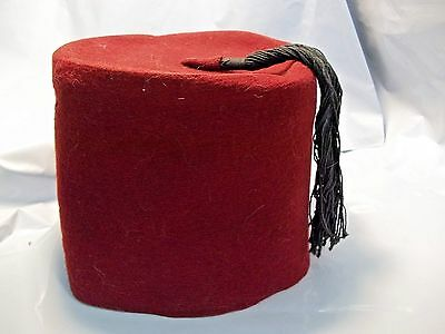 Vintage Fez Hat Costume Red with Tassle