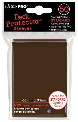 Ultra Pro Brown 50 Count Pack Standard Size Gaming Deck Protector Sleeves