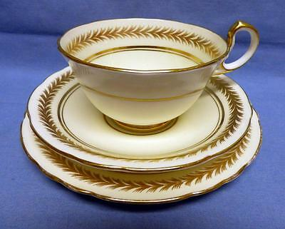 Antique AYNSLEY Bone China Set-TRIO-Dessert Plate Cup&Saucer Gold Trim