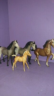 4 Breyer horse animal collectible figure old
