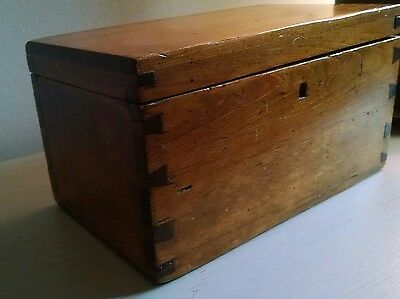 Hand-dovetailed Antique Small Document Box