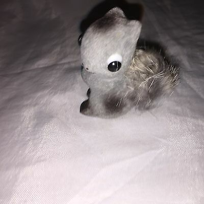 Cool VINTAGE SSCO SMALL Fuzzy Crafting  Gray  SQUIRREL ws2